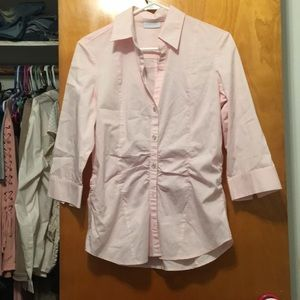 New York and Company Pink Dress Shirt